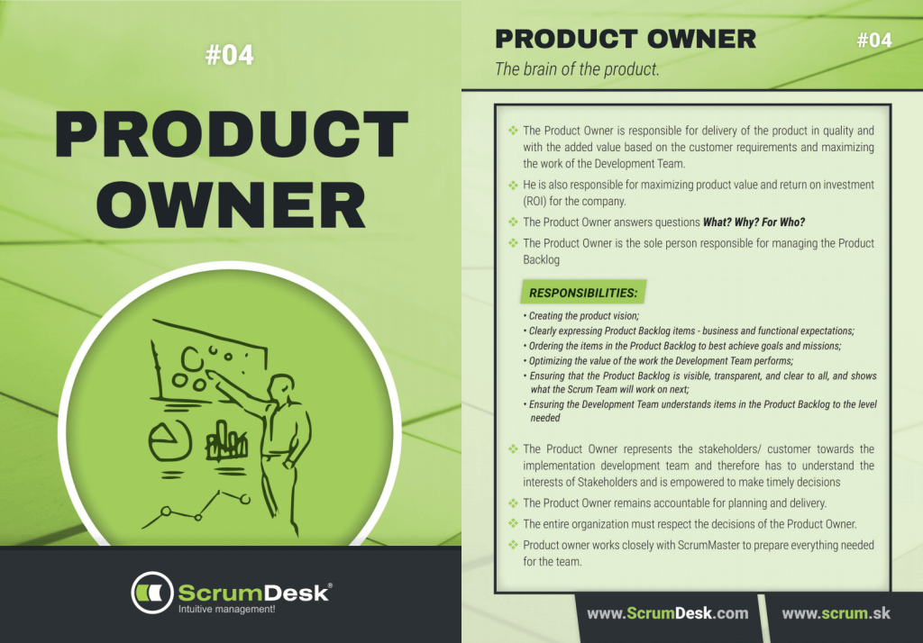 who is product owner ScrumDesk Scrum cards
