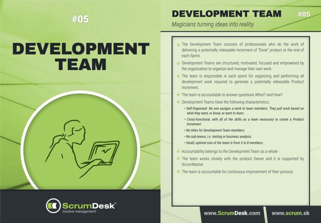 who is agile development team ScrumDesk Scrum cards