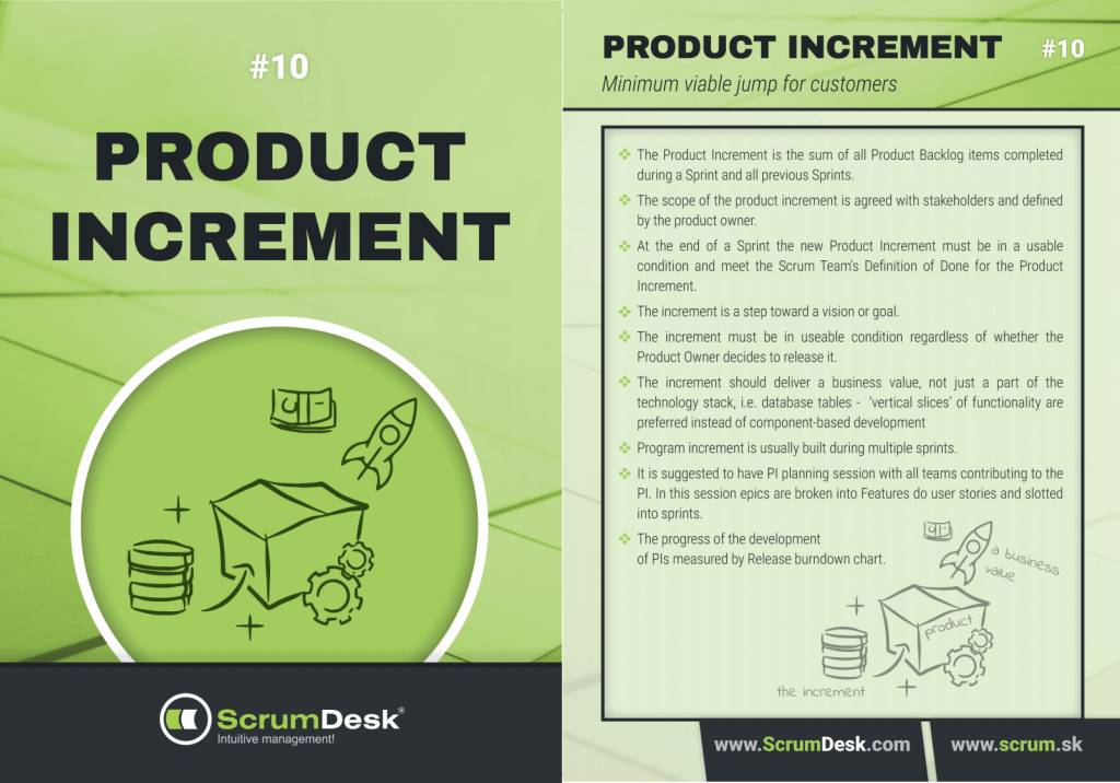 what is product increment scrumdesk scrum cards