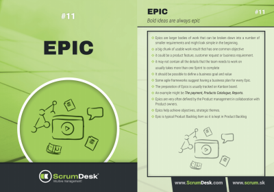 what is epic scrumdesk scrum cards
