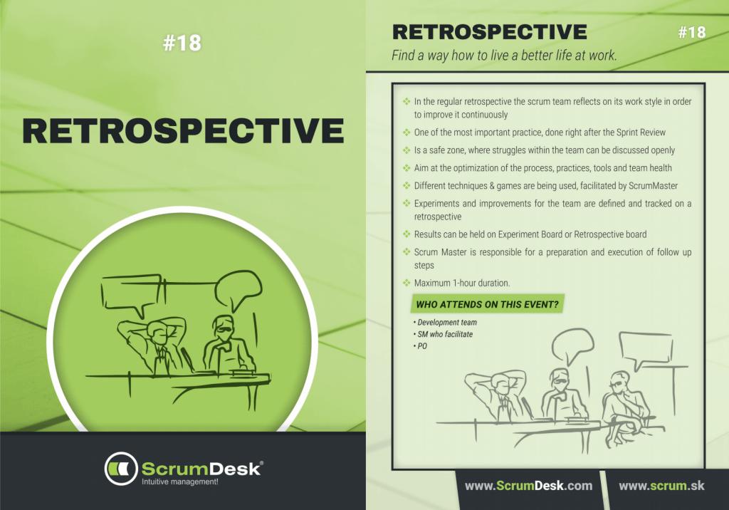 what is retrospective scrumdesk scrum cards