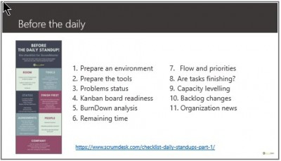 ScrumMaster, how to prepare for daily standup