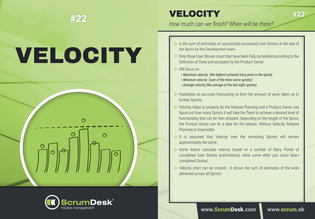 what is velocity scrumdesk scrum cards