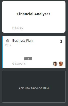 scrumdesk add new backlog item user story product owner