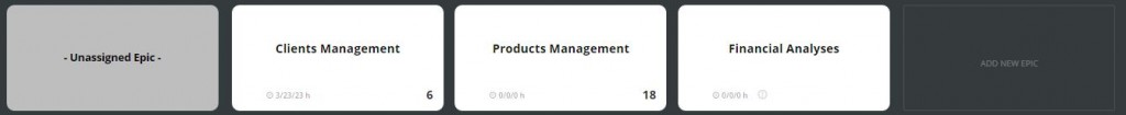 scrumdesk add new epic product owner