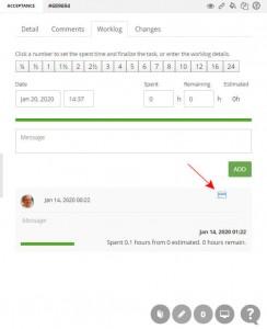 billable vs. non-billable time worklog