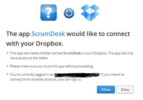 scrumdesk windows dropbox integration synchronization sync