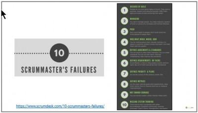 scrummaster failures mistakes