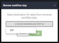 scrumdesk delete workflow status