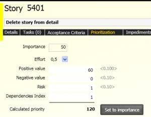scrumdesk windows user story Priority, Risk, Effort, Business Value, Dependencies
