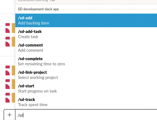 Use Slack to manage your ScrumDesk project