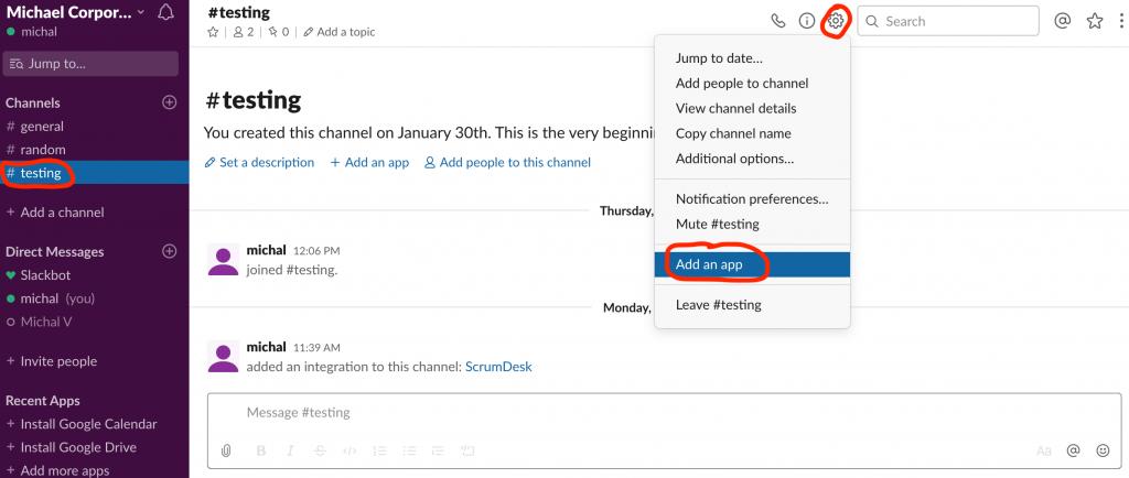 Slack notifications