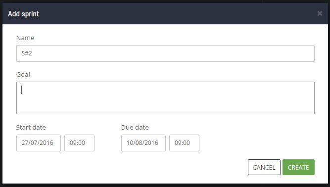 ScrumDesk - add new sprint details