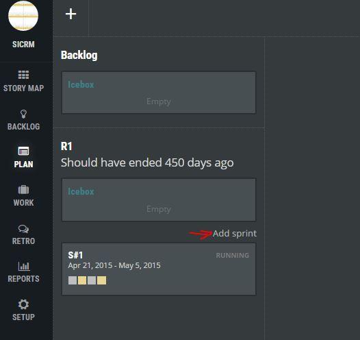 ScrumDesk - add new sprint