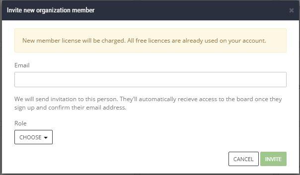 scrumdesk invite new user account project