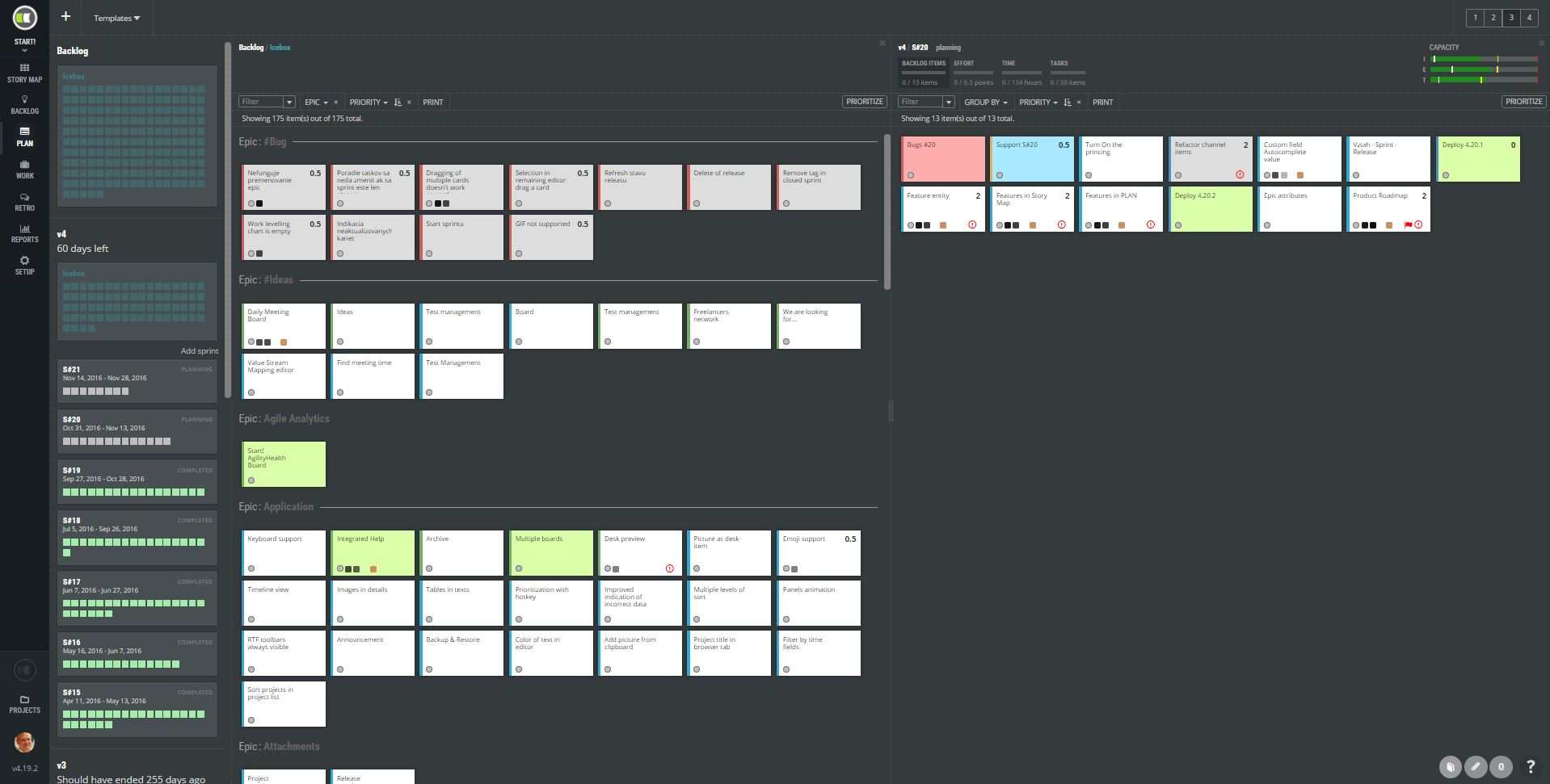 Scrumdesk an online scrum project management tool for for Scrum release plan template