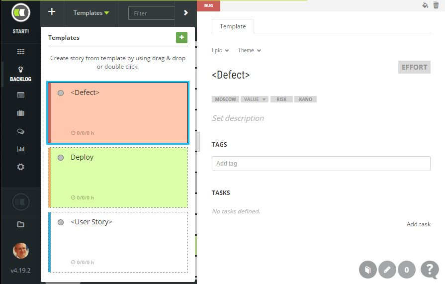 User Story Template | Scrumdesk, Scrum Project Management Tool
